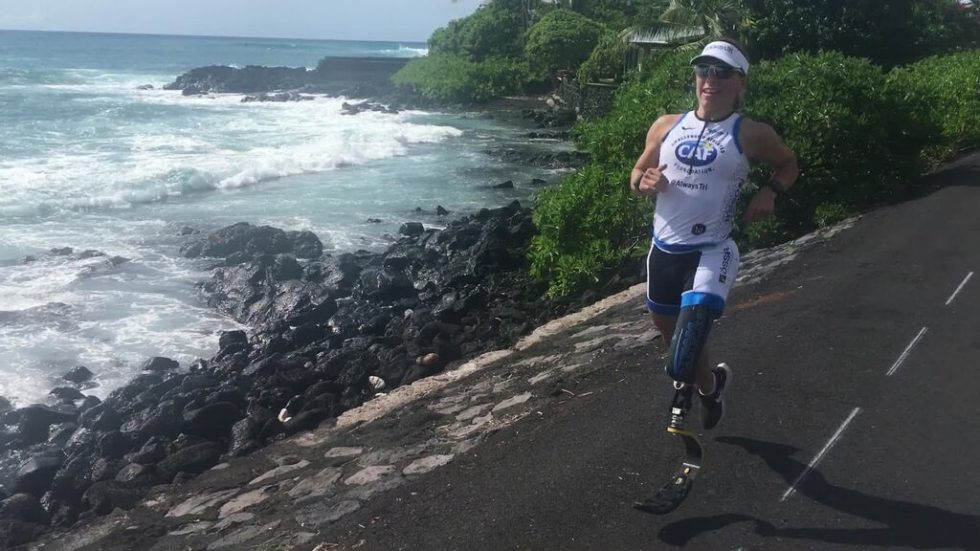 Sarah in training run in Kona Hawaii 2018